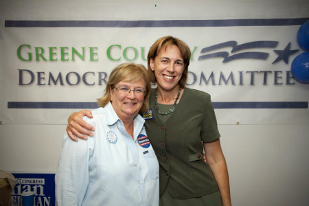 Party Chair Doreen P. Davis and State Senate Candidate Cecilia Tkaczyk