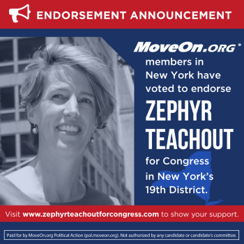 MoveOn Endorses Zephyr
